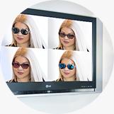 Računalniška primerjava sončnih očal v Optiki Rene Pirc Maribor